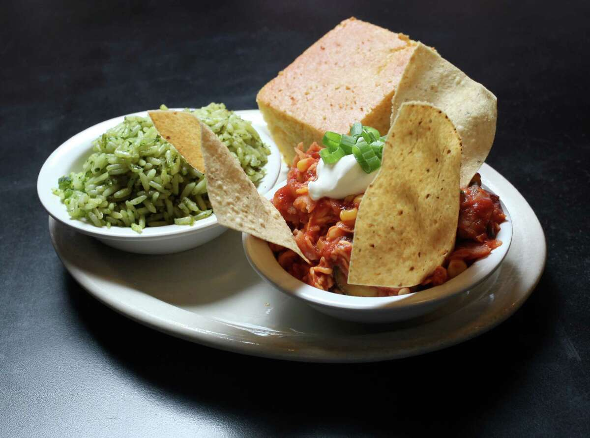 Poblano rice and Sonora casserole are popular sides. The homemade cornbread also is a customer favorite.