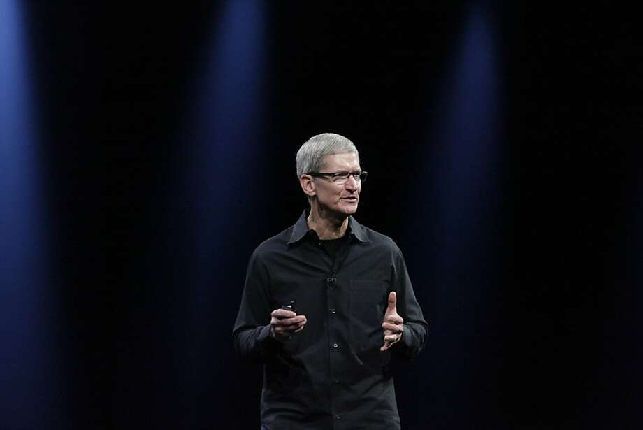 Apple CEO Tim Cook speaks during the keynote at the Worldwide Developers Conference 2012 at Moscone West on Monday, June 11, 2012 in San Francisco, Calif. Photo: Lea Suzuki, The Chronicle