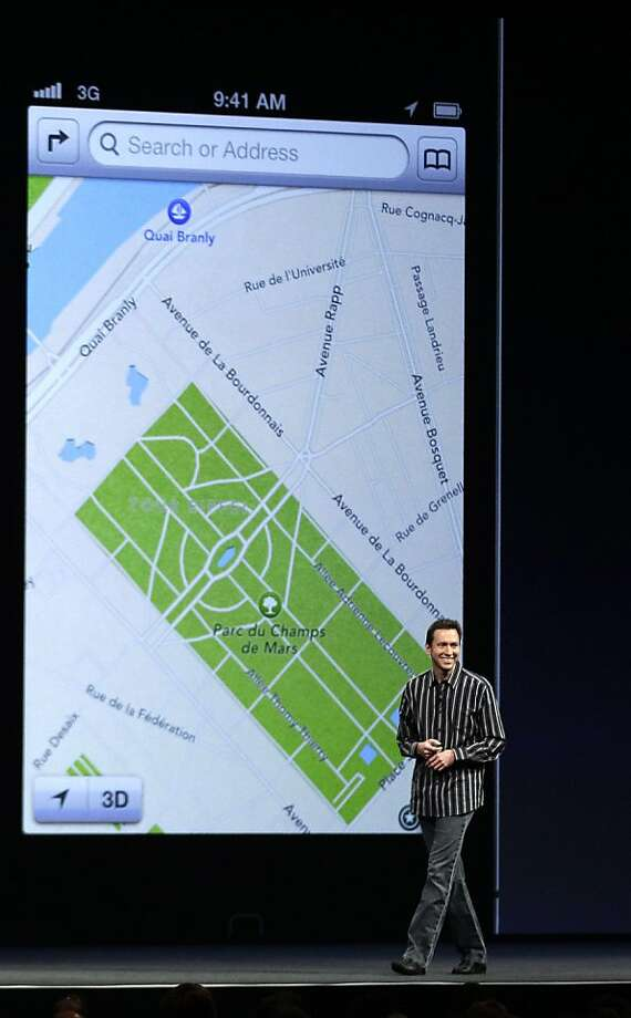 Scott Forstall, head of mobile software, was responsible for Apple Maps, the application that replaced Google Maps in iOS 6 and didn't work properly. Photo: Marcio Jose Sanchez, Associated Press