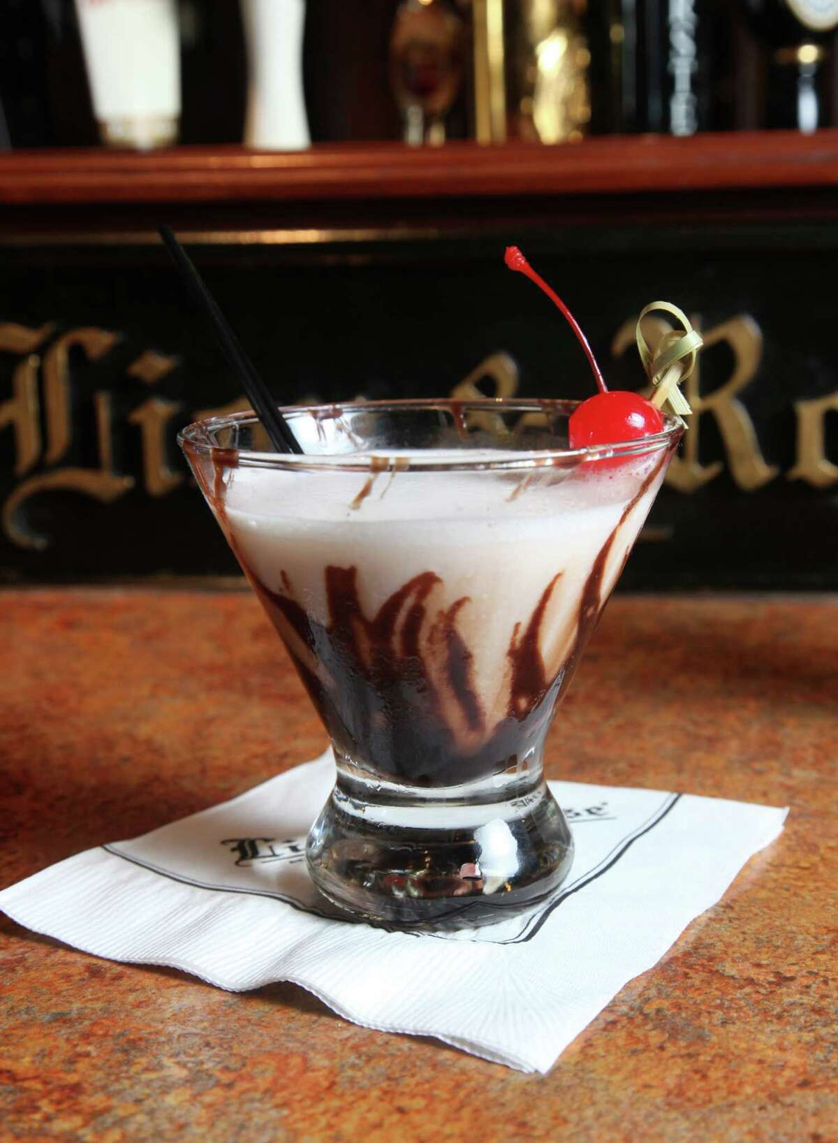 The chocolatini is one of many bar offerings at Lion & Rose.