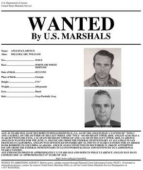 A wanted poster for renowned Alcatraz escapee Clarence Anglin.  Anglin, along with his brother John Anglin and Frank Morris, escaped from Alcatraz on June 11, 1962.  They remain unaccounted for. Photo: -, U.S. Department Of Justice