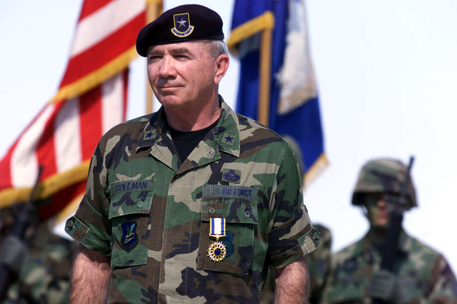 "Retired Brig. Gen. Richard Coleman, seen in this 2000 file photo, called the scandal at Joint Base San Antonio-Lackland ""a great embarrassment"" to the Air Force. Photo: Kin Man Hui, En / en"