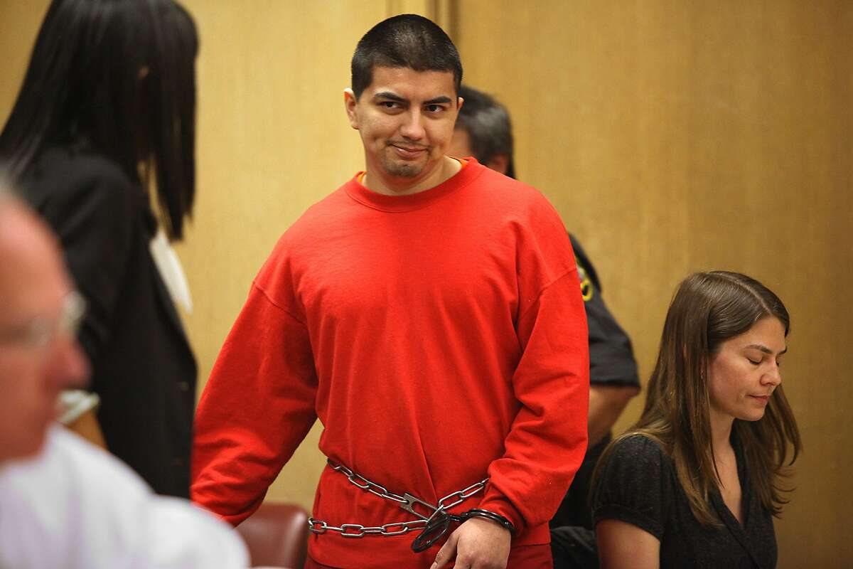 Edwin Ramos, the man who shot and killed a father and his two sons in a mistaken gang shooting in 2008 was sentenced today in San Francisco, California, on Monday, June 11, 2012.