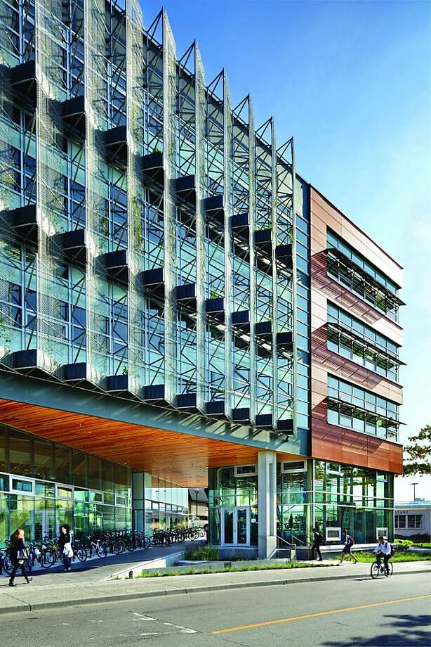 Among the recent buildings designed by Peter Busby of Perkins + Will is the Centre for Interactive Research on Sustainability at the University of British Columbia also in Vancouver. Photo: Martin Tessler