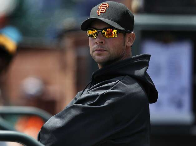 Pitcher Ryan Vogelsong watches the Giants 3-1 win over the Washington Nationals at AT&T Park in San Francisco, Calif. on Wednesday, June 9, 2011. Photo: Paul Chinn, The Chronicle