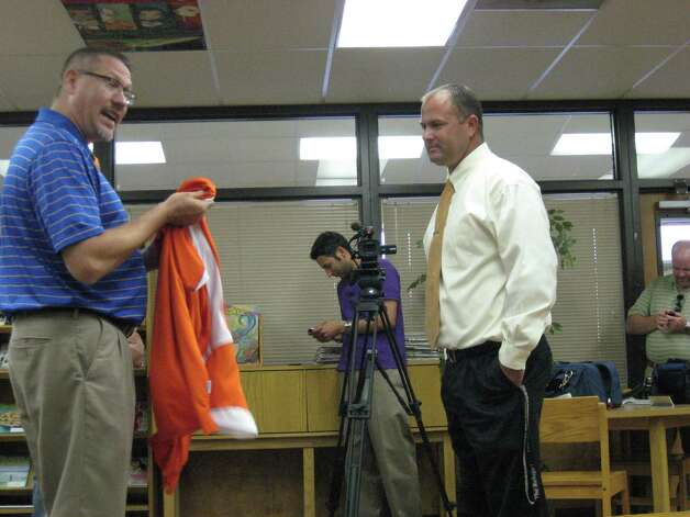 Josh Smalley was named head football coach at Orangefield on Monday night. Photo: David Henry