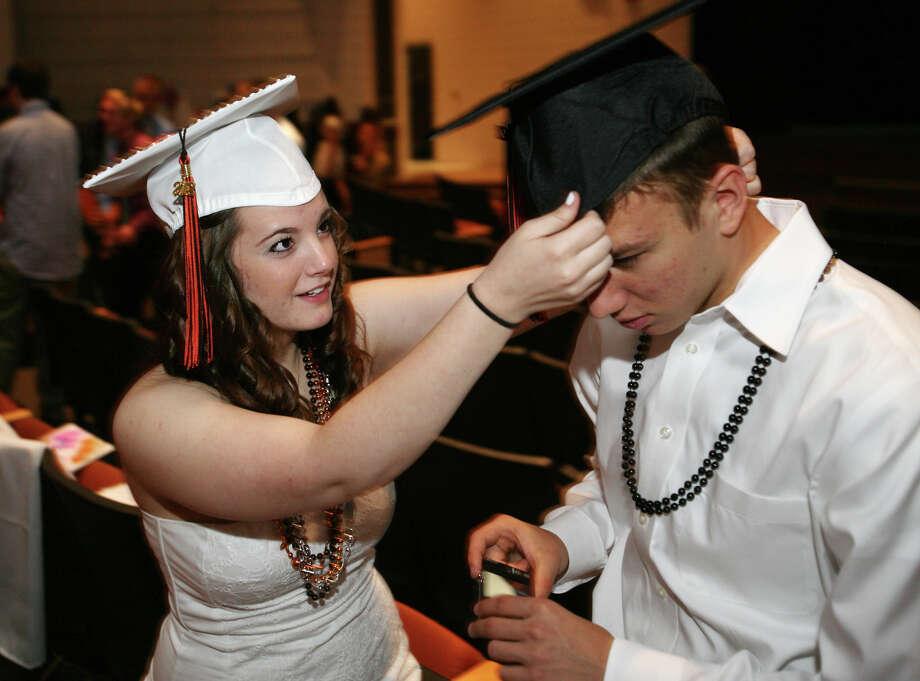 Shelton High School graduation exercises in Shelton on Monday, June 11, 2012. Photo: Brian A. Pounds / Connecticut Post