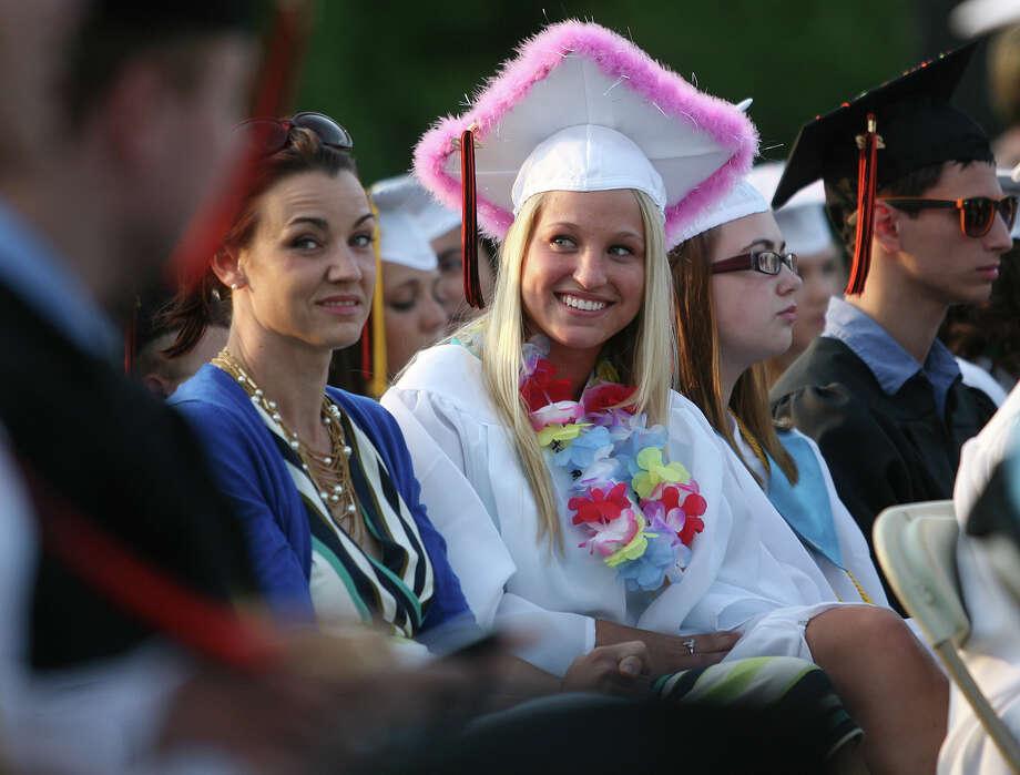 Devin Dufour. Shelton High School graduation exercises in Shelton on Monday, June 11, 2012. Photo: Brian A. Pounds / Connecticut Post