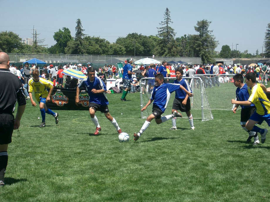 Children from the under-12 category take part in the Futbolito tournament in San Diego. Futbolito organizers expect a good turnout in the 4-on-4 tournament Sunday at Houston Amateur Sports Park.
