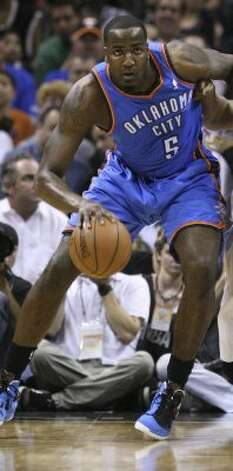 Thunder center: (5) Kendrick Perkins 6-10, 9th yr