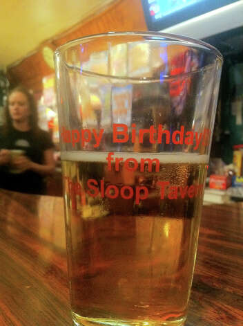 The seattlepi.com staff favorite is the birthday pint glass from legendary Sloop Tavern in Ballard. But it can be elusive. Two current seattlepi.com reporters have the same birthday and it took three years in a row to get the coveted birthday pint glass, though the staff kindly gave fill-in glasses the other years. Sloopersize it while you're there so the longtime tavern doesn't lose money. Photo: Casey McNerthney