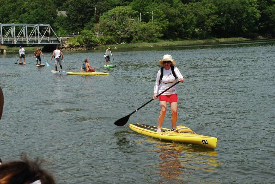 Were you SEEN at the Kristin Thomas Race Clinic- paddle board race held by Down Under in Westport? Photo: Michael Spero / Stamford Advocate