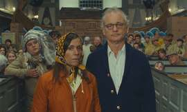 (l to r.) Frances McDormand as Mrs. Bishop and Bill Murray as Mr. Bishop in Wes Anderson's MOONRISE KINGDOM, a Focus Features release.