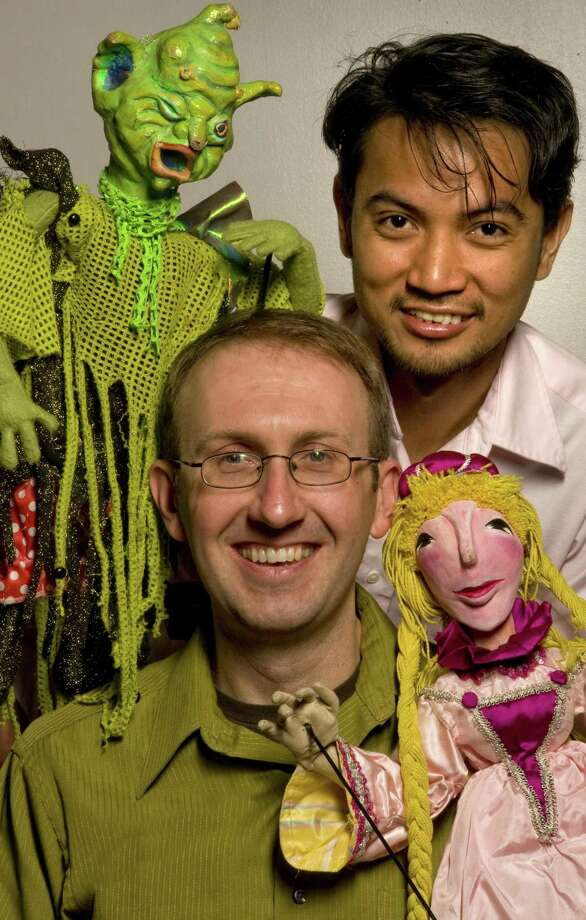 "Gabby Baculi (top) and Mike Horner of Paul Mesner Puppets present ""Rapunzel"" for the 2012 Children's Fine Arts Series Photo: Courtesy Photo"