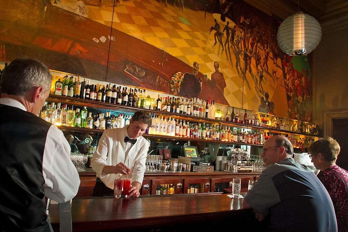 Bartender Peter DiFrancesca makes drinks at Bix restaurant in San Francisco, Calif., on Sunday, June 10th, 2012.
