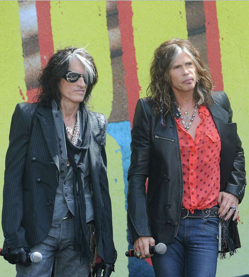 Joe Perry, left, and Steven Tyler of Aerosmith say past friction couldn't stop the band from producing its first new material in 10 years. Photo: Katy Winn, FRE -end- / AP2012