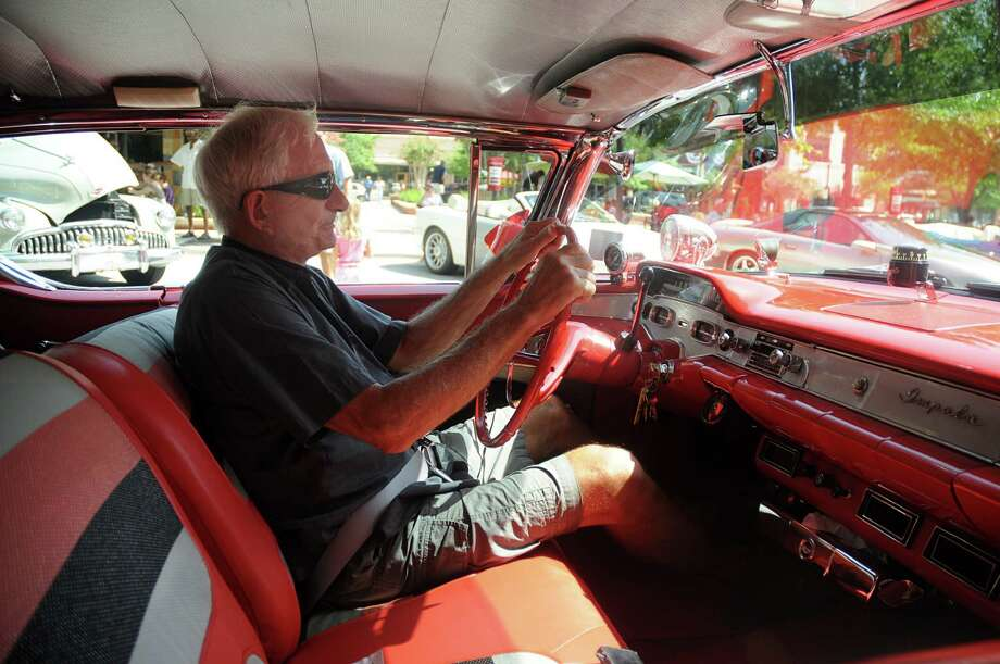 Howard George sits behind the wheel of his classic 1958 Chevrolet Impala. Photo: David Hopper / freelance