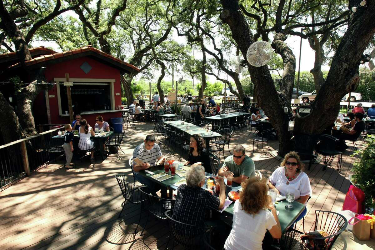 A breeze from fans and shade from tall trees cool the outdoor patio at La Hacienda de los Barrios. It has repeated as winner of the Readers' Choice for best outdoor dining.
