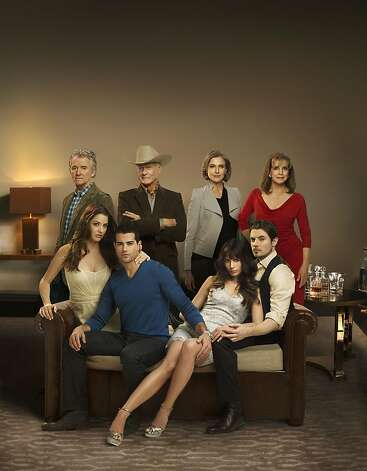 "The cast of, ""Dallas,"" are Patrick Duffy, back row, left, Larry Hagman, Brenda Strong, Linda Gray, Julie Gonzalo, front row, left, Josh Henderson, Jordana Brewster, and Jesse Metcalfe. Photo: Mark Seliger, TNT"