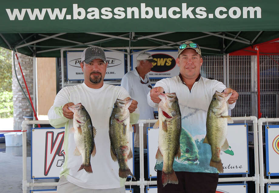 Vic Cooper and Jason Wells enjoyed a dominating win at the first of three Bass N Bucks Rayburn Summer Series tournaments  Photo by Patty Lenderman Lakecaster