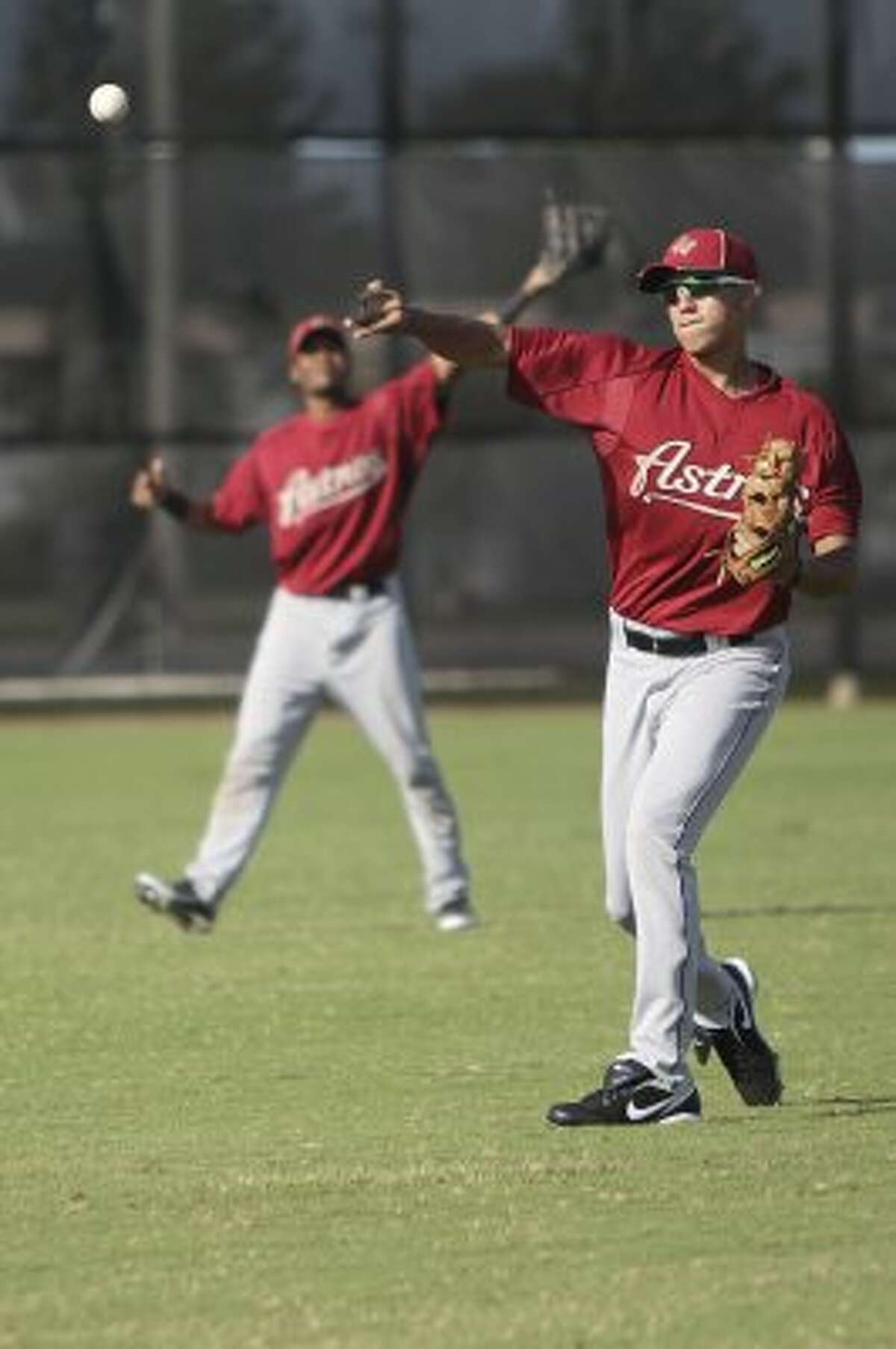 Carlos Correa goes through a workout. (Mayra Beltran / Houston Chronicle)