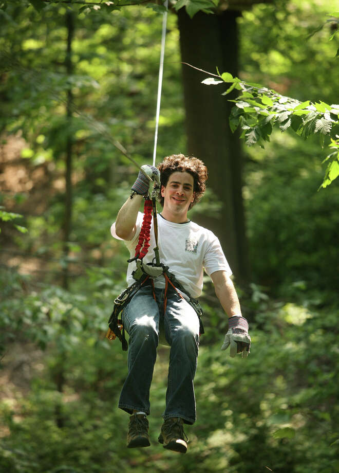 Zip Line You don't have to go to the jungle to get the rush of soaring through the trees on a zip line–you can do it right here in Bridgeport. Head to Portland if you want to try rock climbing and cliff jumping as well as zip lining. Adventure Park at the Discovery MuseumBrownstone Park ZiplinesSkydive Danielson and the Adventure Park at Storrs Photo: Brian A. Pounds / Connecticut Post