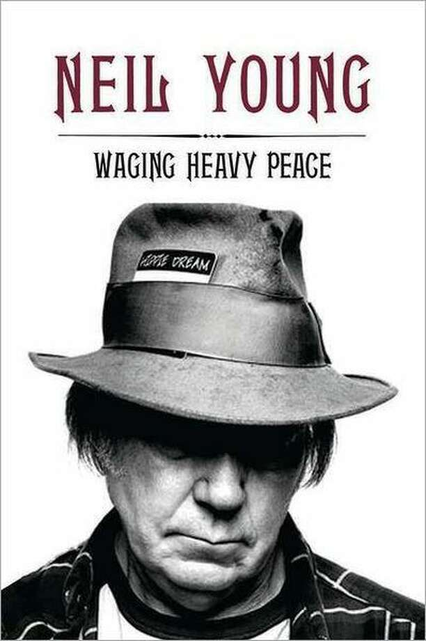 "Neil Young's memoir ""Waging Heavy Peace"" — actually, ""it's more like a diary,"" says the rock legend —  publishes Oct. 2. Photo: Courtesy Penguin Books"