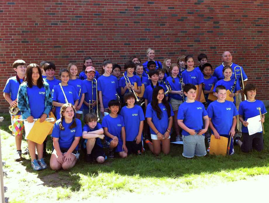 Several musical ensembles from Darien Public Schools received awards for their performances at the Music in the Parks Festival held at Lake Compounce in Bristol Saturday, June 2. Pictured is the Elementary Honors Band. Photo: Contributed Photo