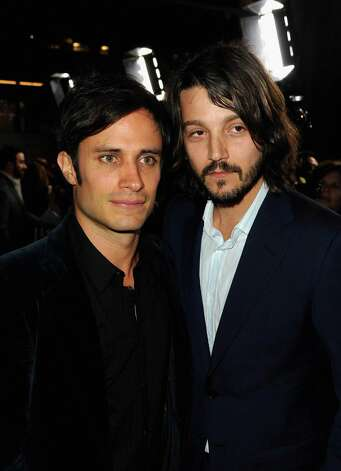 "HOLLYWOOD, CA - MARCH 14:  Actors Gael Garcia Bernal and Diego Luna arrive at Premiere of Pantelion Films' ""Casa De Mi Padre"" at Grauman's Chinese Theatre on March 14, 2012 in Hollywood, California. Photo: Kevin Winter, Getty Images / 2012 Getty Images"