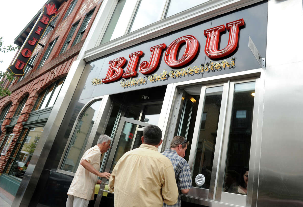 FILE: The Bijou Theater held a soft opening for area residents in downtown Bridgeport on Thursday July 7, 2011. The film Certified Copy was the first film shown at the newly renovated theater which was originally built in 1908.