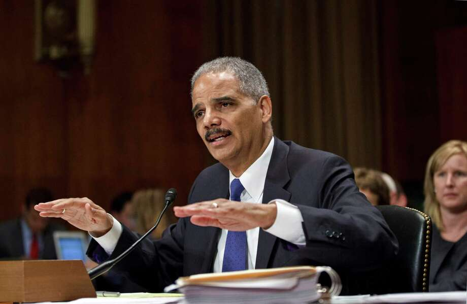 Attorney General Eric Holder testifies on Capitol Hill in Washington, Tuesday, June 12, 2012, before the Senate Judiciary Committee hearing looking into national security leaks. Photo: J. Scott Applewhite, Associated Press