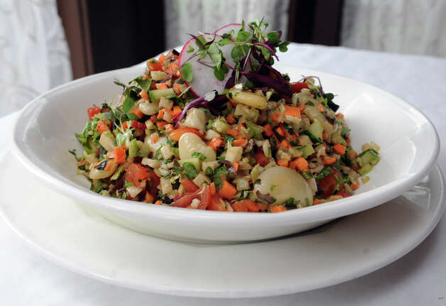 Salad of chopped seasonal vegetables and gigante beans at Boulevard 18 in New Canaan on Tuesday, May 22, 2012. Photo: Lindsay Niegelberg / Stamford Advocate