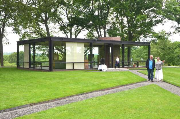 Guests of the Glass House Dine with Design event were free to roam the historic property with all its unique architectural structures.  June 9, 2012, New Canaan, Conn. Photo: Jeanna Petersen Shepard