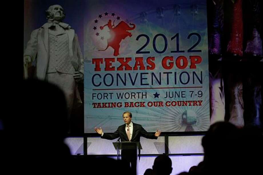 David Dewhurst speaks during  the Texas Republican Convention in Fort Worth, Texas,  Saturday, June 9, 2012. Photo: LM Otero, AP / AP