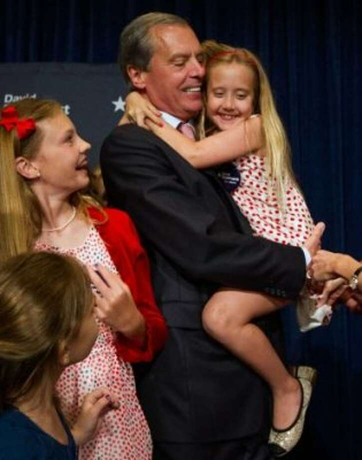 The Dewhurst family on primary night. (Smiley N. Pool / Houston Chronicle)