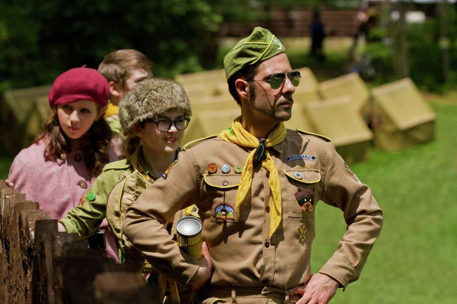 "In this film image released by Focus Features, from left, Kara Hayward, Jared Gilman and Jason Schwartzman are shown in a scene from ""Moonrise Kingdom."" Photo: AP"