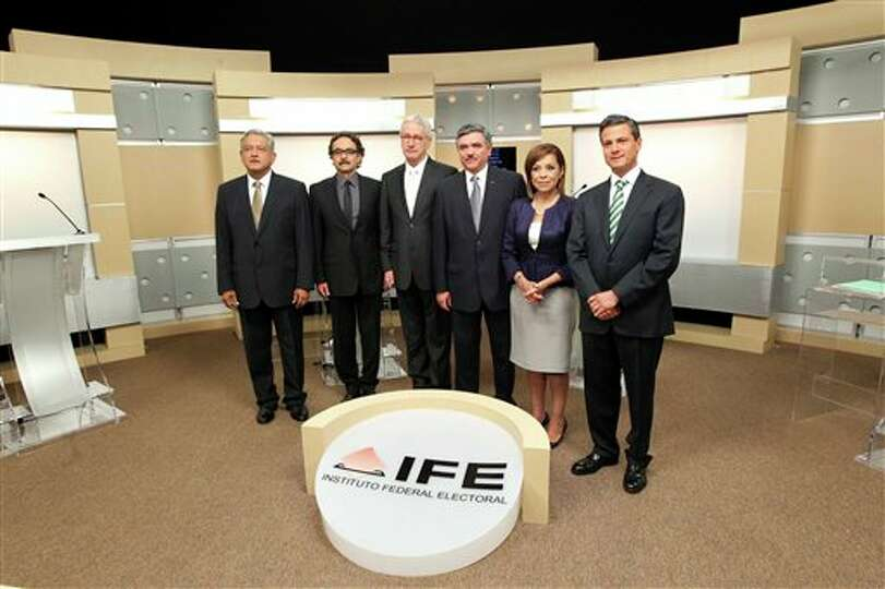 In this undated image released by Mexico's Federal Electoral Institute, IFE, the presidential candid