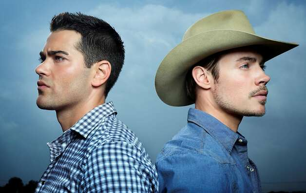 "Jesse Metcalfe (left) plays Christopher, the adopted son of Bobby Ewing in the renewal of the TV classic, ""Dallas."" Josh Henderson plays John Ross, son of Sue Ellen and JR Ewing. The new show premieres on TNT on June 13. (Martin Schoeller/Courtesy TNT/MCT) Photo: Handout, McClatchy-Tribune News Service"