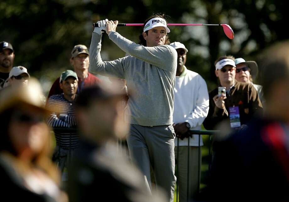 Bubba Watson tee shot on the sixteenth hole, as the second day of practice rounds continue during the United States Open Championship at the Olympic Club in San Francisco, Ca., on Tuesday June 12, 2012. Photo: Michael Macor, The Chronicle