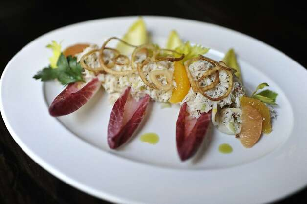 Dungeness Crab Salad. Burritt Room+Tavern is a new restaurant/bar across from the Stockton garage in San Francisco, Calif. Photo: Yue Wu, The Chronicle