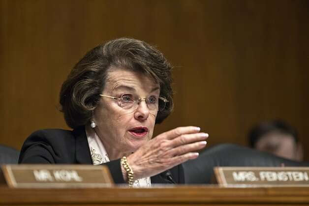 Senate Judiciary Committee member, Sen. Dianne Feinstein, D-Calif., chair of the Senate Intelligence Committee,  questions Attorney General Eric Holder, Capitol Hill in Washington, Tuesday, June 12, 2012, as he testifies before the Senate Judiciary Committee.  (AP Photo/J. Scott Applewhite) Photo: J. Scott Applewhite, Associated Press