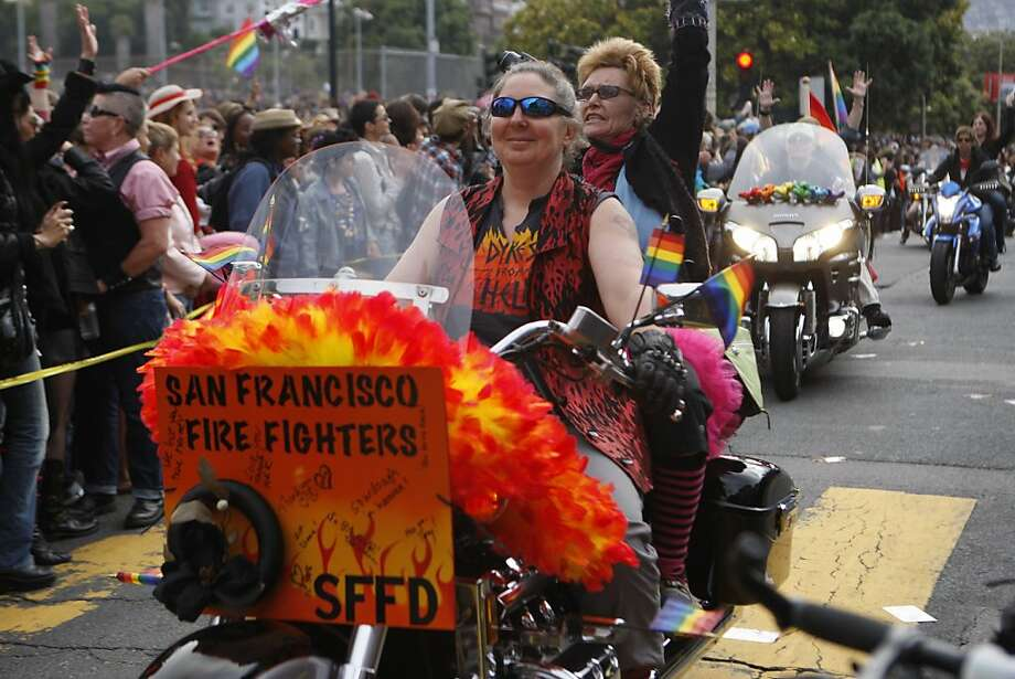 The San Francisco Fire Department was represented at the 2011 San Francisco Dyke March in San Francisco Calif.,  on June 25, 2011. Photo: Audrey Whitmeyer-Weathers, The Chronicle