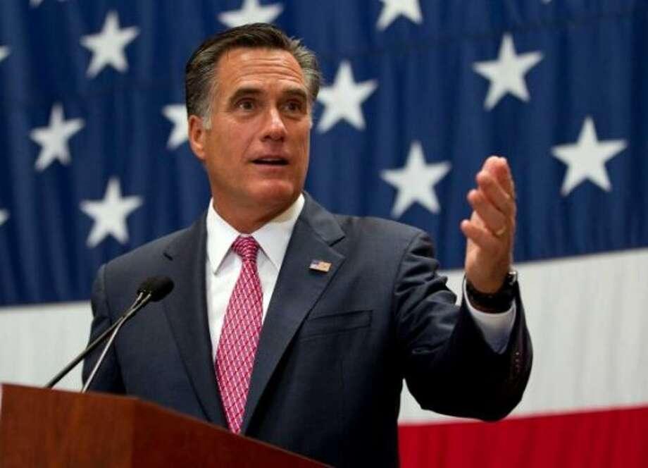Mitt Romney speaks at USAA in San Antonio on June 6, 2012. Mitt Romney speaks at USAA in San Antonio on June 6, 2012.