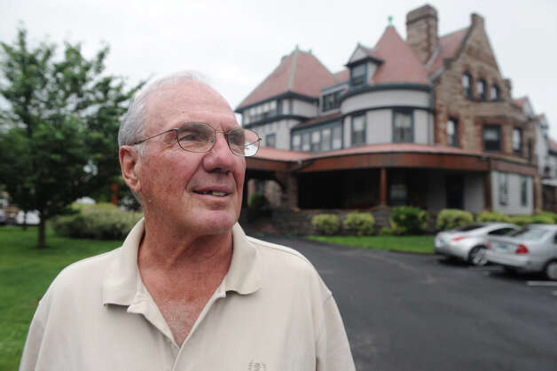 Forty years ago Edward Jordan bought the 16,000 square foot mansion on Hackett Circle in Stamford, Conn., June 13, 2012. It was divided into several apartments when he bought it, he still has tenants today. Photo: Keelin Daly / Stamford Advocate