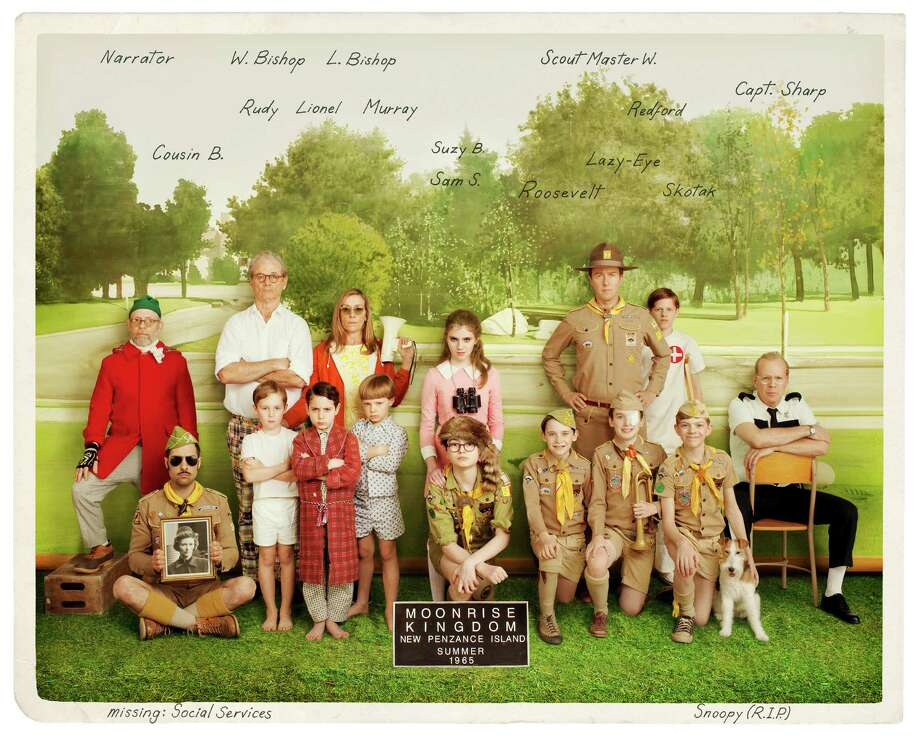 "The cast of ""Moonrise Kingdom"" includes Bruce Willis, Frances McDormand,  Bill Murray and Jason Schwartzman. Murray and Schwartzman both have worked with Anderson on at least three different films."