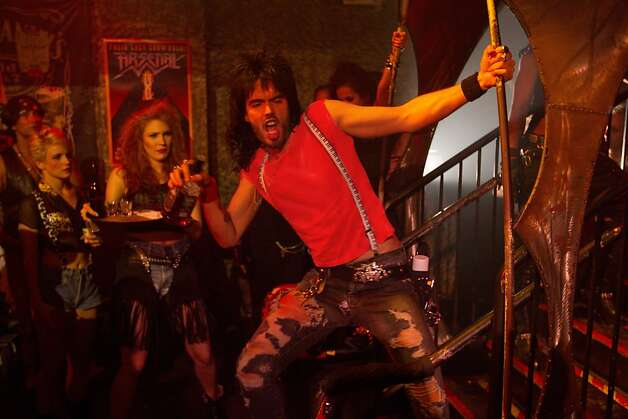 ROA-001854r (Center) RUSSELL BRAND as Lonny in New Line CinemaÕs rock musical ÒROCK OF AGES,Ó a Warner Bros. Pictures release. Photo: David James, Warner Bros.