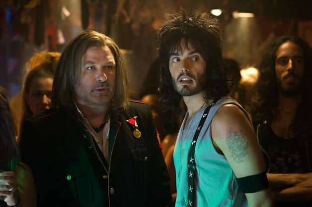 ROA-04642r (L-r) ALEC BALDWIN as Dennis Dupree and RUSSELL BRAND as Lonny in New Line CinemaÕs rock musical ÒROCK OF AGES,Ó a Warner Bros. Pictures release. Photo: David James, Warner Bros.