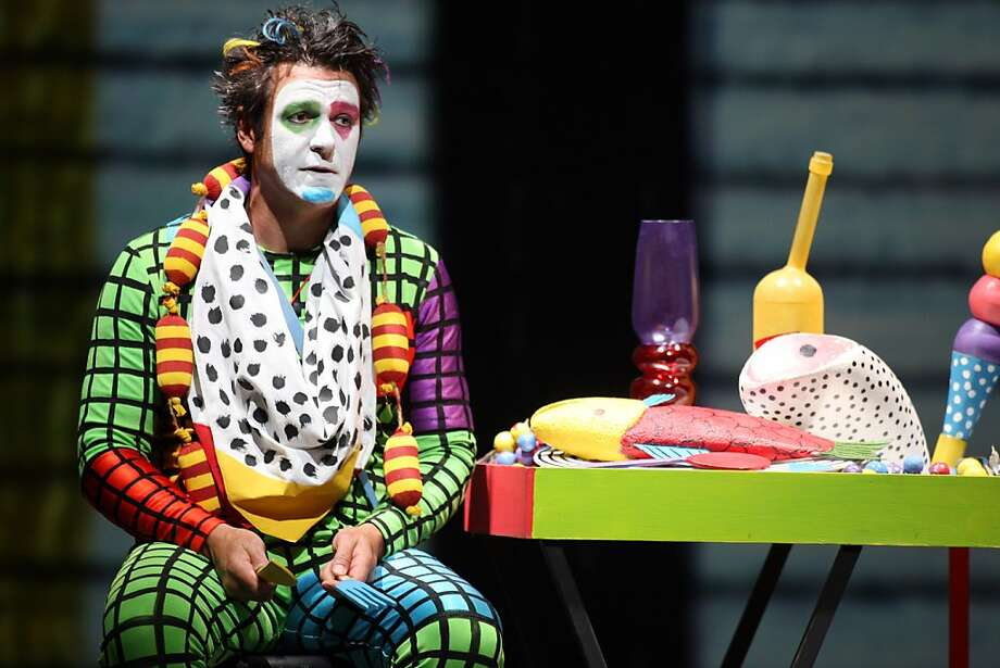 "Nathan Gunn plays the role of Papageno, a bird catcher, in ""The Magic Flute"". The San Francisco Opera presents a new production Mozart's ""The Magic Flute,"" which features over-the-top characters and projected animated sets. Photo: Kevin Johnson, The Chronicle"