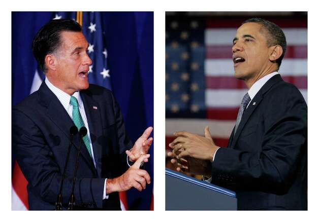 "Former Massachusetts Gov. Mitt Romney (left), rightly or wrongly, has been said to be out of touch with ""ordinary"" Americans. President Barack Obama, too, has been considered out of touch. His remark that ""the private sector is doing fine"" doesn't help. Photo: File Photos, Associated Press"