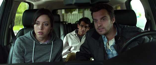 (L-R) AUBREY PLAZA, KARAN SONI and JAKE JOHNSON star in SAFETY NOT GUARANTEED Photo: Courtesy Of FilmDistrict